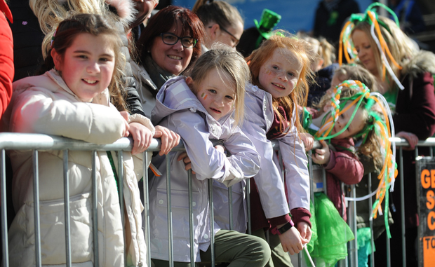 Big crowds line the streets of Balbriggan for the annual St Patrick's Day Parade