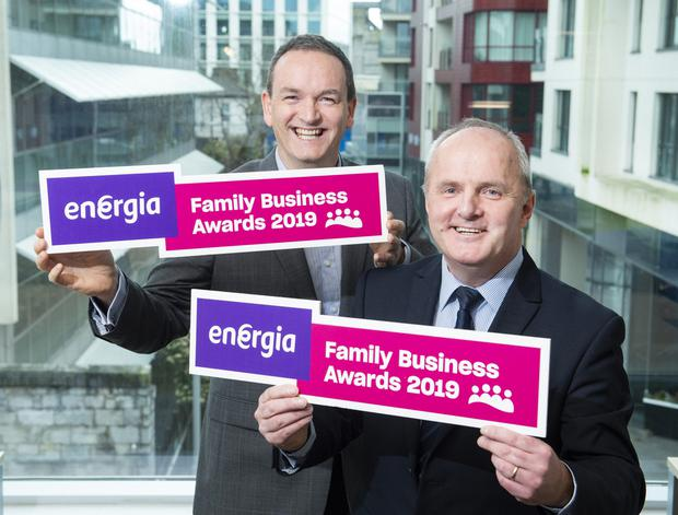 Alan Mulcahy Head of Sales Energia and JJ O'Connell Co Chair, Director Family Business Ireland. Photo by Gerard McCarthy