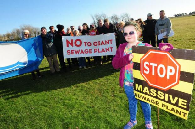 Protest in Portmarnock against giant regional sewage plant