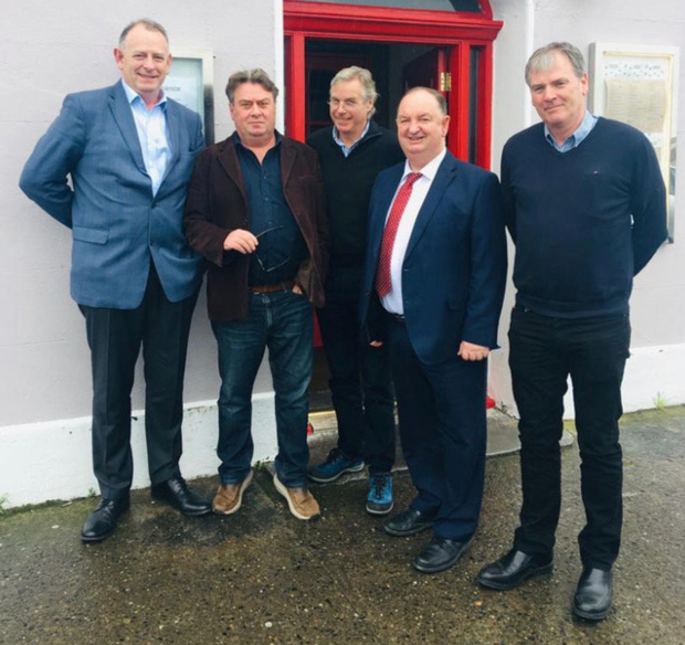 Joe Gavagha,n Area Manager ESB, Martin Scully, President, Skerries Chamber of Commerce, John Nealon, Blu Bar, 5 Rock, Goat in a Boat Coffee Shop, Cllr Tom O Leary, Declan Slevin, area operations manager, ESB.