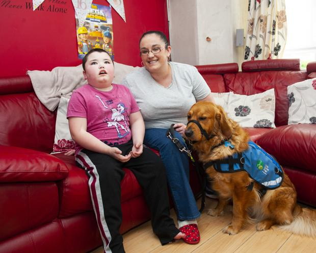 Gemma Kane with her son Oliver and his dog, Marco