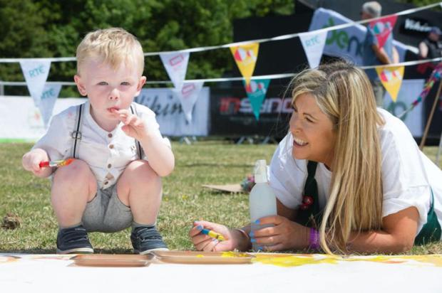 Pictured at the Cruinniú na nÓg event at Flavours of Fingal 2018 was Fionn McGuire and Sharon Farrell from Recreate
