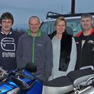Aidan McNally, Keith and Donna Costello and Timmy Dennis at a motorcycling event