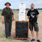 Tom Kavanagh and Paul Lynch working on a Tern conservation project on Portrane Beach
