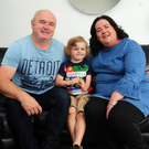 Sean, Ruairí and Shona Kilduf, pictured at home in Lusk. (pic by Fintan Clarke)