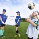 Visa presents Swords Celtic FC Girls with new sports equipment. (Photo: Peter Houlihan)