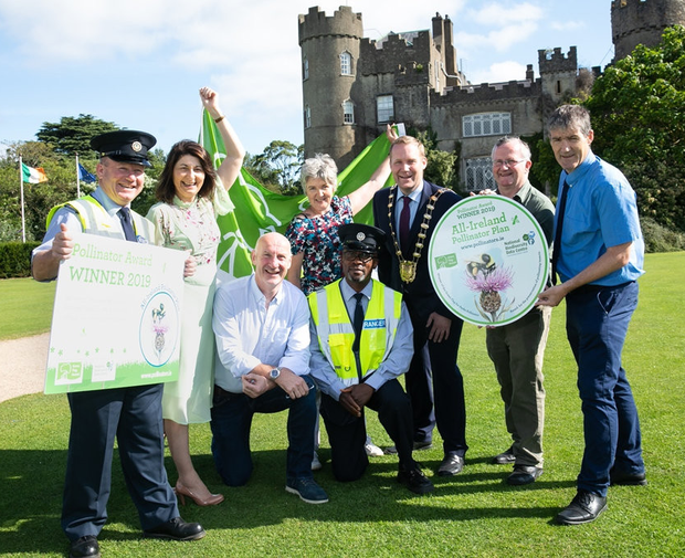 Pictured are: Mayor of Fingal Cllr Eoghan O'Brien with Fingal County Council's Director of Operations David Storey, and council staff, Caroline Power, Colin Gilhooley, Cornelia Raftery, Pascal Murphy, Tony Masterson and Evaristus Okafor