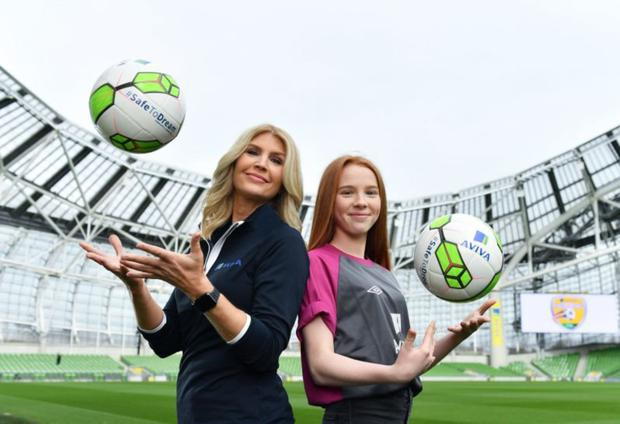 Yvonne Connolly and her daughter Ali Keating officially kicked off the FAI Aviva Soccer Sisters programme, earlier this year