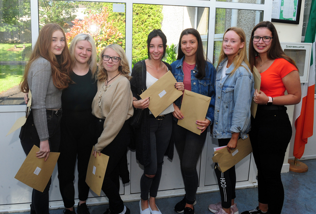 Students were lining up to collect their Leaving Certificate results at Loreto Swords