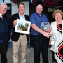 Cllr Brian Dennehy, Darragh O'Brien TD, Conrad Murray and Pat Kelly at the Lusk Tidy Towns award presentation