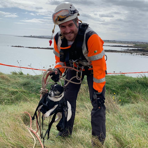 Wiz the Dog was rescued by the Irish Coast Guard in Rush