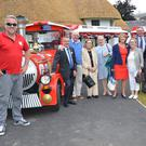 Malahide Lions Club members along with Enterprise Town judges and Michael Place with his Toots Malahide Road Train