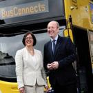 Minister Shane Ross and Anne Graham of the NTA at BusConnects Launch