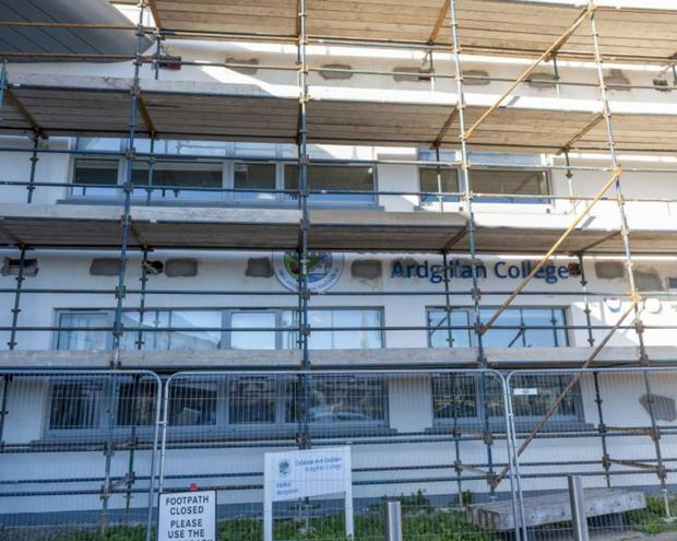 A section of Ardgillan Community College remains closed while a plan is developed to allow its re-opening