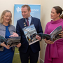 Mayor of Fingal Cllr Eoghan O'Brien with Director of Services for Economic, Enterprise & Tourism Development Emer O'Gorman (right) and Senior Executive Officer Aoife Sheridan