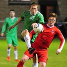 Action from the Glebe North v Tolka Rovers game