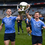 Dublin's Brian Fenton and Ciaran Kilkenny celebrate following the Allianz Football League Division 1 final last year