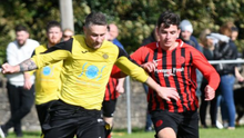 Barry McAllister went close to putting Rush Athletic in front against Athenry