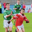 St Colmcille's NS's Michael Keogh and Gaelscoil Na Cille's Seán Mac Eoin