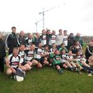 St Patrick's Donabate celebrate yet another promotion after winning their all-important game against Thomas Davis