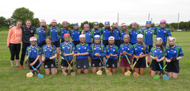 The winning Loreto Swords team after the Minor B Camogie Championship Final