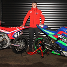 Jack Whearty will compete on his 250 Honda for the grass track season, and the 300 Yamaha for his short circuit campaign. Photo: Jack Corry