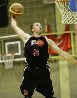Alex Zurn's foul trouble limited his game time for Swords Thunder at ALSAA on Saturday evening.
