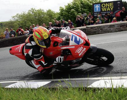 Cameron Donald at the Gooseneck during the 2013 Supersport TT, where he finished 7th on the Wilson Craig Honda. Can he have success on the Norton? Picture: Jack Corry