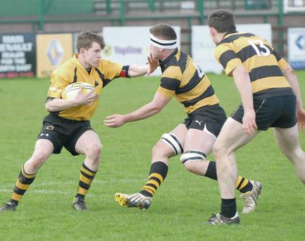 Rory Scanlon takes the ball into contact.