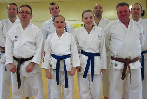 Rush and Lusk Karate Club members at the course in Artane. Picture: James Mansfield