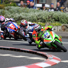 Brilliant last lap action in the 600 Supersport race at the North West as newcomer Glen Irwin leads eventual winner Alastair Seeley and Lee Johnston at Chruch Corner