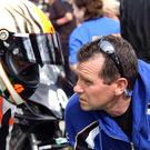 The late Paul 'Pullit' Carroll chats with Andy Farrell before the start of a race