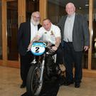 "Jim Gaffney, ""Scratch"" Howard, and Bob Mullen at the Loughshinny MCSC Awards Night. Photo Jack Corry"
