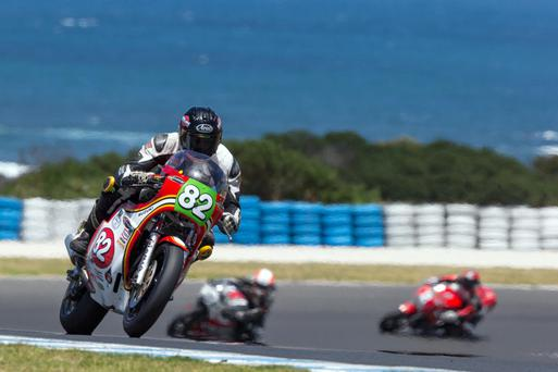 This beautiful photo of Derek Sheils in action at Phillip Island in Australia, where he finished in an excellent seventh place on his first time there, was taken by Andrew Gosling
