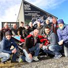 The riders from across the UK and Ireland who took part in a half-day training session ahead of their first MCE Ulster Grand Prix: Back (l-r) Ken Stewart (MCE Ulster GP), Callum Paterson, Jay Bellers Smith, Euan Meston, Francis O'Hara, Matt Donaldson, Barry Sheehan, Eddie Johnson (MCE Ulster Grand Prix); Front (l-r)Stephen Ferguson (MCUI trainer), Noel Johnston(MCE Ulster Grand Prix), William Dunlop and Michael Swann (MCUI trainer)