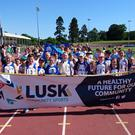 Lusk AC competitors at the Lusk Community Games over the weekend