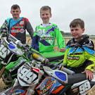 The Whelan brothers, (l-r) Sean, Jamie and Scott at the Milverton off Road Stubble Championship. Photo Jayo Fleming