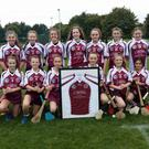 St Finian's Swords' Under-13 camogie team in their new jerseys, sponsored by the Carlton Hotel Dublin Airport