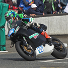 Micko Sweeney took his new 650 Kawasaki to a fine 5th place in the second Supertwin race at the North West 200
