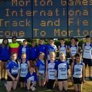 Lusk AC athletes who took part in the 16x100 metres relay during the Morton Games