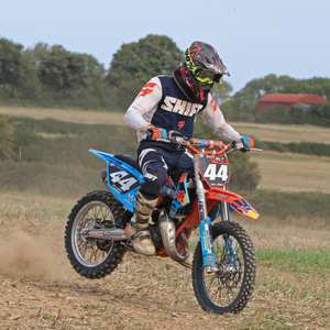 Tom Garry took both wins in the 85 Big Wheel class at the Stubble Championship. Photo Leo Bissett