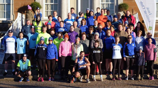 The large Lusk Fit-4-Life crew at Sunday's Dublin Marathon