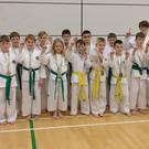 Paul Carroll, third degree black belt, and James Faulkner, sixth degree black belt, with the Balbriggan competitors