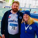 Colm Ó Donnchadha and Lisa Ni Donnchadhna excelled in the colours of Lusk AC at the Leinster Masters and National Masters respectively