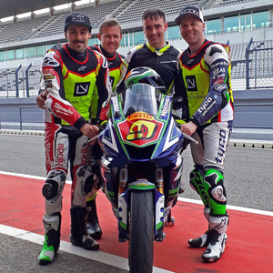 Working with the Laverty brothers in Portugal last season was a great help to Aaron with his bike preparation