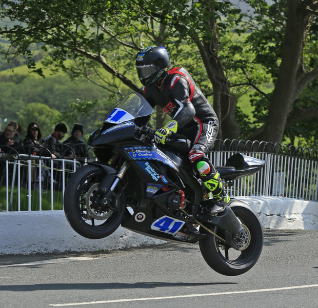 Cork rider Mike Browne was flying in his first TT. Photo Jack Corry