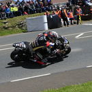 Peter Hickman entertains the large crowd on his way to winning his first 600 TT win. Photo: Jack Corry
