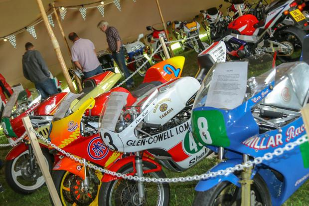 Just some of the fantastic collection of bikes at the Classic Festival in Bishopscourt