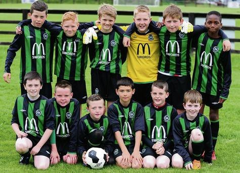 The Swords Celtic Under-11s who won their own tournament