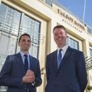Pictured at the Talbot Hotel Stillorgan are Cormac Pettitt, Managing Director of the Pettitt Group and Managing Director of the Talbot Hotel Group Philip Gavin